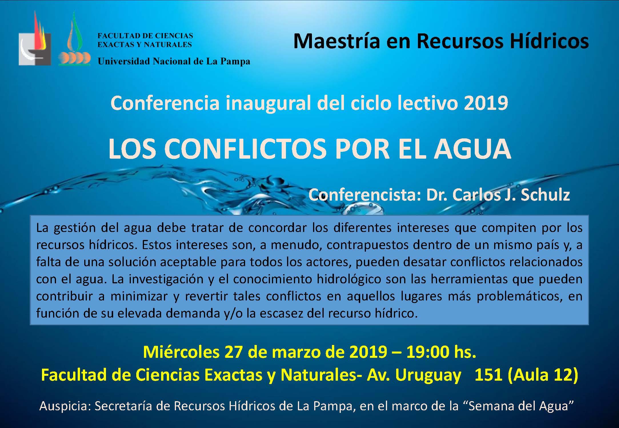 cartel conferencia inaugural