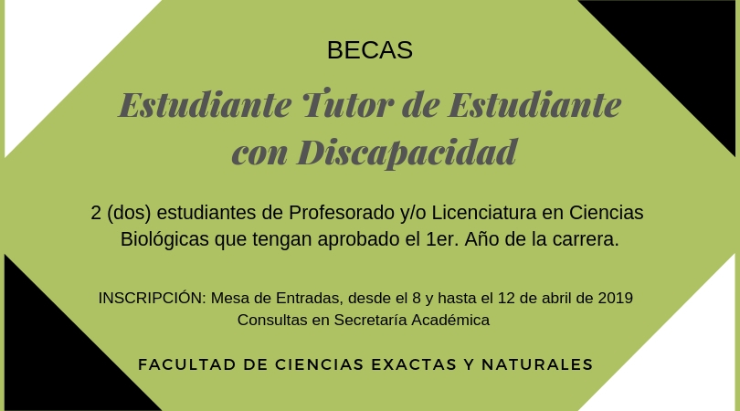 cartel convocatoria a beca
