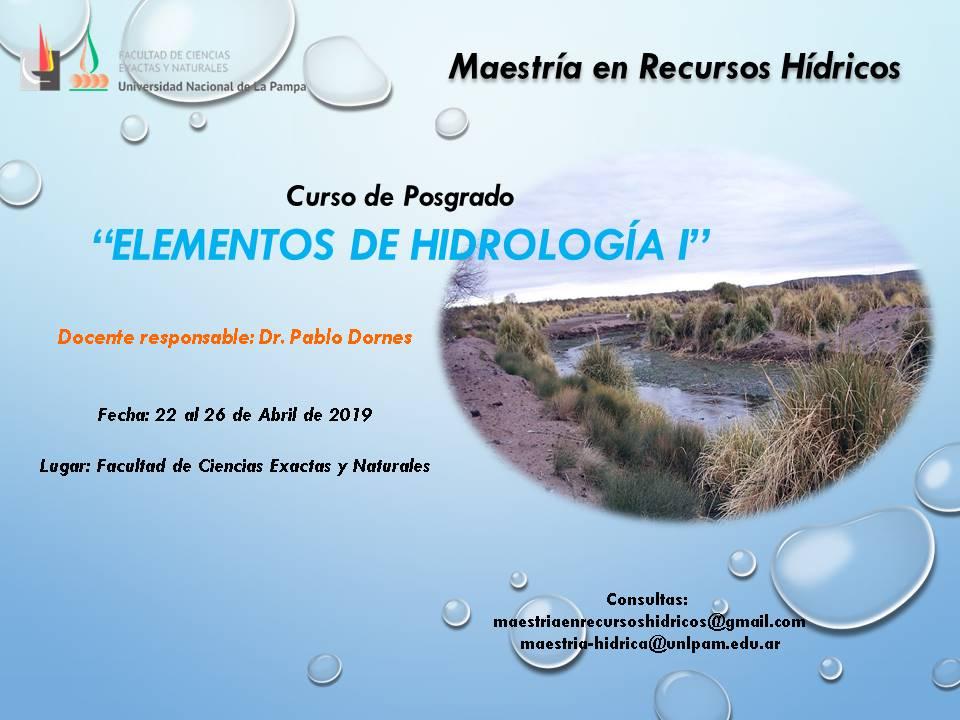 Cursos Elementos de Hidrología I