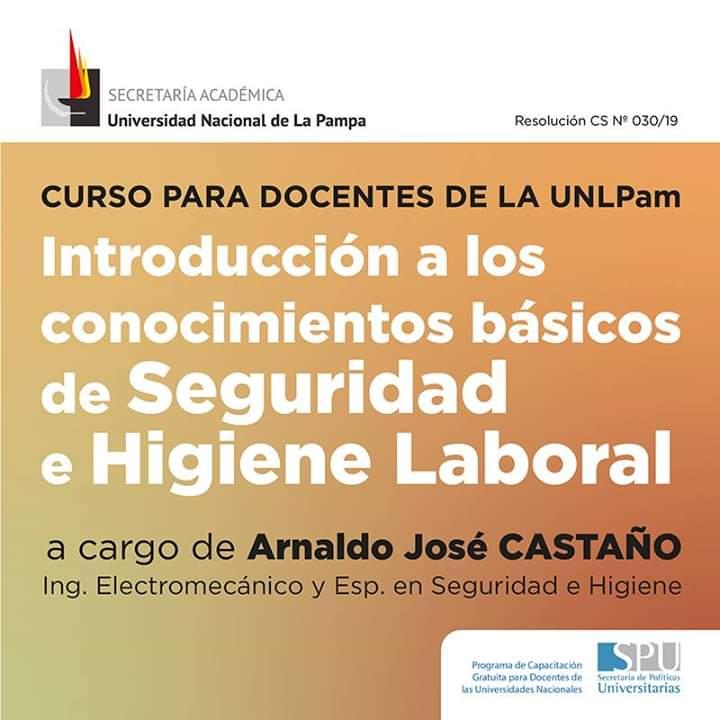 Cartel del Curso para docentes de la UNLPam