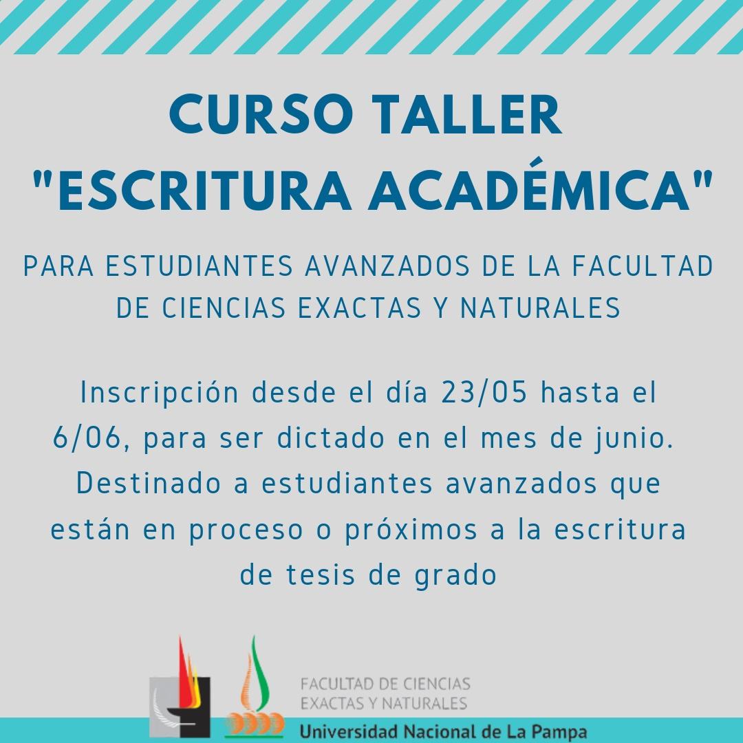 cartel escritura académica