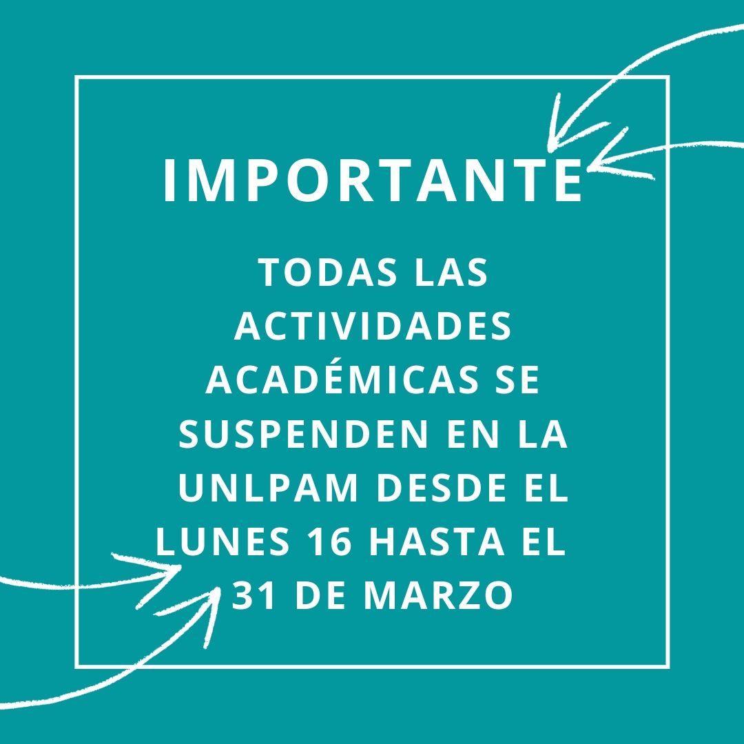 cartel suspensión de actividades académicas