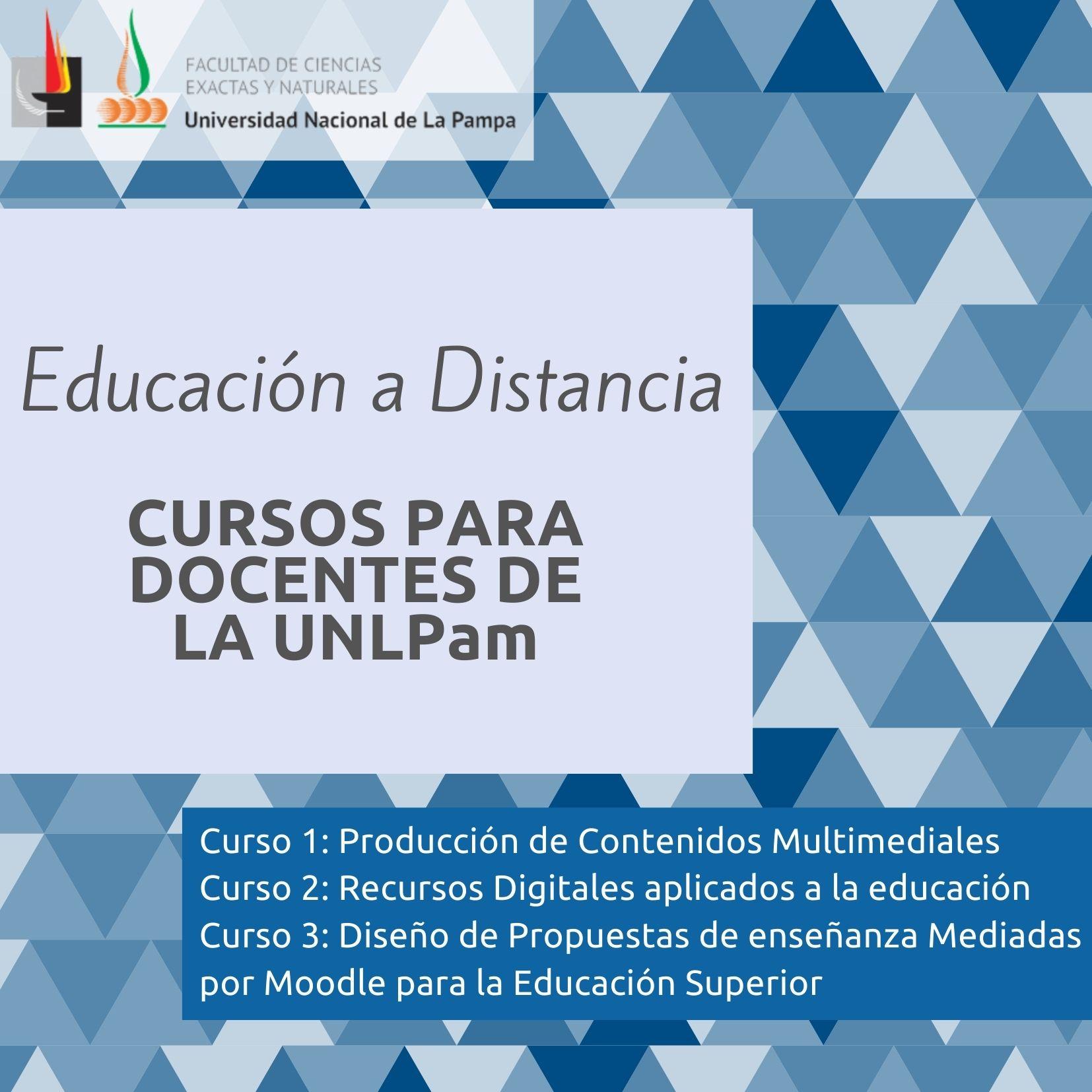 Cartel Cursos para docentes de la UNLPam