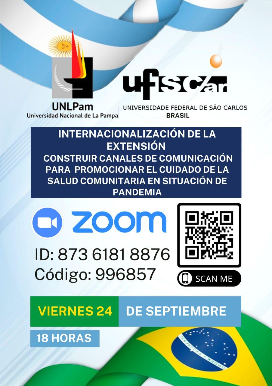 Acción de Internacionalización de la Extensión. Canales de comunicación para promocionar el cuidado de la salud comunitaria.