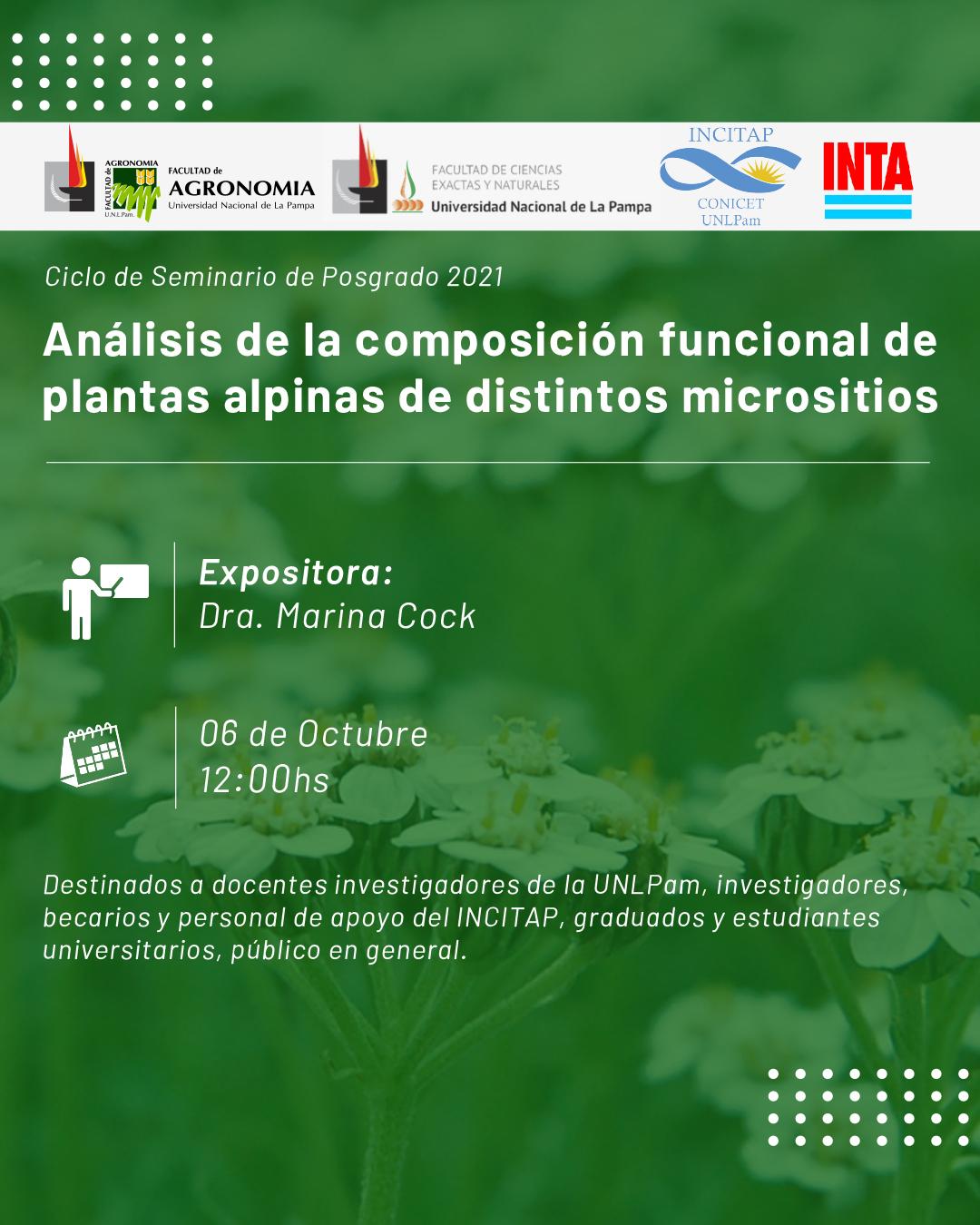 Análisis de la composición funcional de plantas alpinas de distintos micrositios