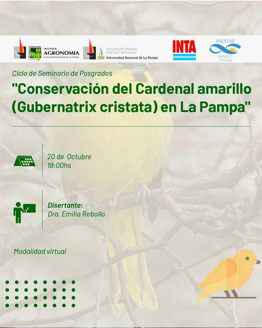 Conservación del Cardenal amarillo en La Pampa